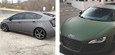 Полная перетяжка авто - Одноцветная глянцевая или матовая пленка
